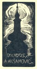 EX LIBRIS A.AKŠAMOVIČ (odkaz v elektronickém katalogu)