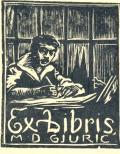 Ex libris M.D. GJURIĆ (odkaz v elektronickém katalogu)