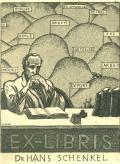 EX-LIBRIS Dr HANS SCHENKEL (odkaz v elektronickém katalogu)