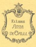 EX LIBRIS ANNA DE GALLI (odkaz v elektronickém katalogu)