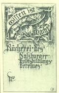 Bücherei des Salzburger Volksbildungs pereines (odkaz v elektronickém katalogu)