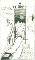 ex libris Gustav Sattler (odkaz v elektronickém katalogu)