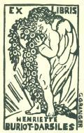 EX LIBRIS HENRIETTE BURIOT-DARSILES (odkaz v elektronickém katalogu)