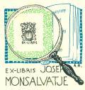 EX-LIBRIS JOSEF MONSALVATJE (odkaz v elektronickém katalogu)