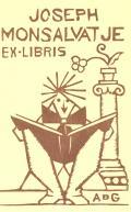 JOSEPH MONSALVATJE EX-LIBRIS (odkaz v elektronickém katalogu)
