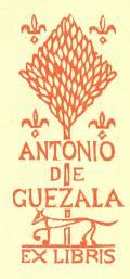 ANTONIO DE GUEZALA EX LIBRIS (odkaz v elektronickém katalogu)