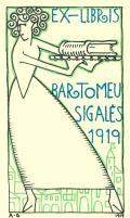 EX-LIBRIS BARTOMEU SIGALÉS 1919 (odkaz v elektronickém katalogu)