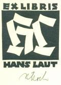 EXLIBRIS HANS LAUT (odkaz v elektronickém katalogu)