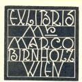 EXLIBRIS Mr. MARCO BIRNHOLZ WIEN (odkaz v elektronickém katalogu)