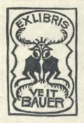 EXLIBRIS VEIT BAUER (odkaz v elektronickém katalogu)