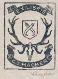EX LIBRIS C.J.HACKER (odkaz v elektronickém katalogu)