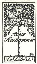 Adele Korhammer Ex Libris (odkaz v elektronickém katalogu)