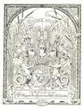 Bücherzeichen des Dr. August Freiherrn von Alber-Glanstättern (odkaz v elektronickém katalogu)