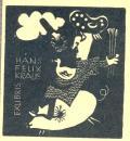 EXLIBRIS HANS FELIX KRAUS (odkaz v elektronickém katalogu)