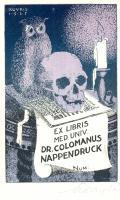 EX LIBRIS MED.UNIV.DR.COLOMANUS NAPPENDRUCK (odkaz v elektronickém katalogu)