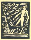 Dr. med. WERNER WOLFF Ex libris (odkaz v elektronickém katalogu)