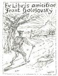 Ex libris amicitiae Frant. Holešovský (odkaz v elektronickém katalogu)