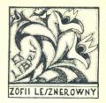 EX LIBRIS ZOFII LESZNEROWNY (odkaz v elektronickém katalogu)