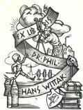 EX LIBRIS DR. PHIL. HANS WITTAK 1914-1918 (odkaz v elektronickém katalogu)