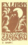 EX LIBRIS TOWARZYSTWA PRZYJACIÓL OSSOLINEUM (odkaz v elektronickém katalogu)