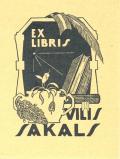 EX LIBRIS VILIS SAKALS (odkaz v elektronickém katalogu)