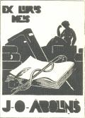 EX LIBRIS J.O.ABOLINŠ (odkaz v elektronickém katalogu)