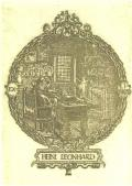 EX LIBRIS HEINI LEONHARD (odkaz v elektronickém katalogu)