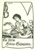 Ex libris Helene Halmhuber (odkaz v elektronickém katalogu)