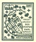 HAUSARCHIV DES GRAFEN KARL EMICH ZU LEININGEN WESTERBURG (odkaz v elektronickém katalogu)