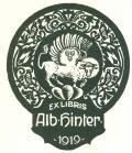 EX LIBRIS Alb. Hinter (odkaz v elektronickém katalogu)
