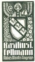 Basilius I. Fellmann Abbas Montis Angelor (odkaz v elektronickém katalogu)