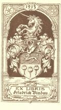 EX LIBRIS Friedrich Bludau (odkaz v elektronickém katalogu)