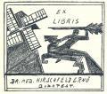 EX LIBRIS DR. MED. HIRSCHFELD ERNÖ BUDAPEST (odkaz v elektronickém katalogu)