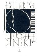 EX LIBRIS JUDr. JOSEF DINSKI (odkaz v elektronickém katalogu)
