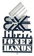 Ex libris JOSEF HANUŠ (odkaz v elektronickém katalogu)
