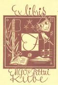 Exlibris Engo a Fritzi Kube (odkaz v elektronickém katalogu)