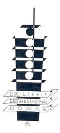 EX LIBRIS ERICH & MARTHA NOWAK (odkaz v elektronickém katalogu)