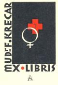 EX LIBRIS MUDr. F. KRECAR (odkaz v elektronickém katalogu)