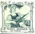 EX LIBRIS AGNES DROBNER GEB. HINDORF (odkaz v elektronickém katalogu)