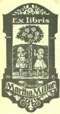 Ex Libris Martha Miller (odkaz v elektronickém katalogu)