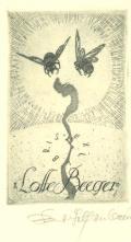 Exlibris Lotte Beeger (odkaz v elektronickém katalogu)
