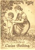 Exlibris Luise Gelling (odkaz v elektronickém katalogu)
