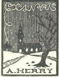 Exlibris A. HERRY (odkaz v elektronickém katalogu)