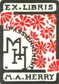 EX LIBRIS M.A. HERRY (odkaz v elektronickém katalogu)