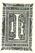 EX LIBRIS IRMA RUELLE (odkaz v elektronickém katalogu)