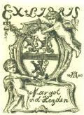 EX LIBRIS Margot v.d. Heyden (odkaz v elektronickém katalogu)