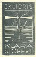 EX LIBRIS KLARA STOFFEL (odkaz v elektronickém katalogu)