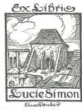 Ex Libris Lucie Simon (odkaz v elektronickém katalogu)