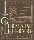 EX LIBRIS GERMAINE LEFEBURE (odkaz v elektronickém katalogu)