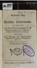 Abgekürzter Weg zur Geistlichen Vollkommenheit  (odkaz v elektronickém katalogu)
